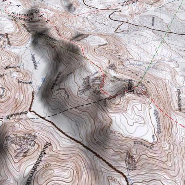 Iceland Topo 50k Land