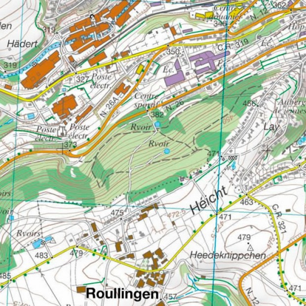 Luxemburg Topo 25k Twonav