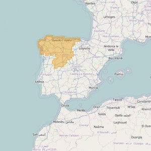 Spain Topo Zones Nor-Oeste