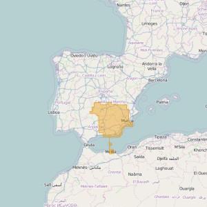 Spain Topo Zones Sur-Este