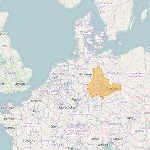 Germany Topo Zones Saxony-Anhalt + Thuringia + Saxony