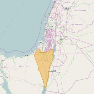 Israel Shvil Net Topo Zones South (english toponymy)
