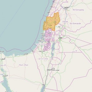 Israel Shvil Net Topo Zones North (english toponymy)