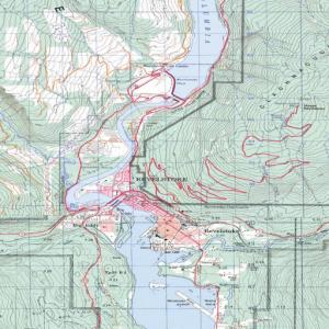Canada: Vancouver area Topo