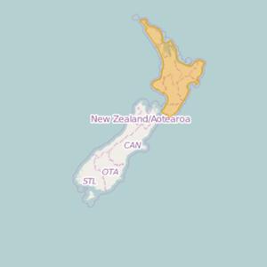 New Zealand Topo Zones North