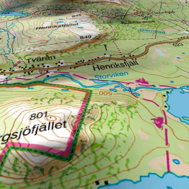 Sweden Topo Mosaic 3d