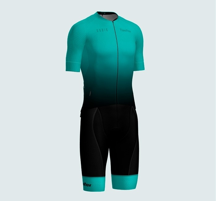 Cycling Matching Women's Short-Sleeve Shirt and Bib Shorts