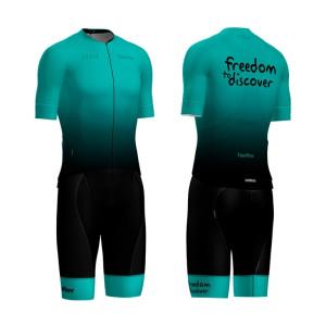 Cycling Matching Women's Short Sleeve Shirt and Bib Shorts