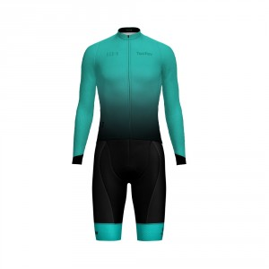 Cycling Matching Women's Long Sleeve Shirt and Bib Shorts